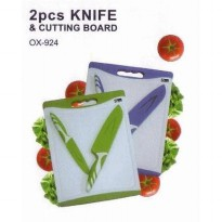 [Oxone] Knife 2pcs & Cutting Board OX-924