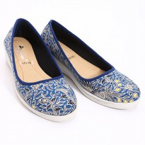 Dr.Kevin Canvas Wedges Shoes 43127 Blue
