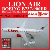 LION AIR DIE CAST MODEL PESAWAT BOEING B737- 900ER NEXT GEN