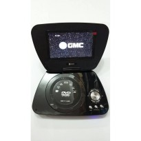 GMC DIVX-808R-TV 7' Portable DVD Player - Hitam