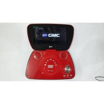 GMC DIVX-808U-TV 9' Portable DVD Player - Merah