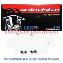 Autovision LED Light Booster Gen2 +410% Lampu Motor NMax Cahaya Combo Low Beam Putih 5500K High Beam Kuning 3000K