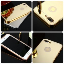 Case Bumper Mirror iPhone 5 5S 5G 6 6S 6G 7 7Plus Plus Hard Back Case