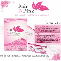 FAIR N PINK DRINK (FNP DRINK) 1 BOX ISI 20 sachet