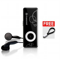Harga Mp3 Player Transcend Mp300 Free Magnetic Cable - Hitam Harga Promo09