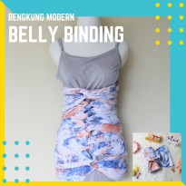 Belly Binding Bengkung Modern Jumbo Size 20 Meter Color Blue