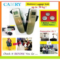 CAMRY EL-50 , USA-BRAND , ELECTRONIC LUGGAGE SCALE