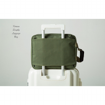 Korean Simply Luggage Bag ARMY GREEN (Tas bentuk koper mini)