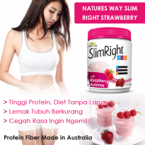 Natures Way Slim Right Strawberry with Raspberry 375 gr Diet Meal Replacement 1,2,3 Prgorgam