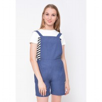 Heart and Feel Basic Short Overalls 1239.C - Blue