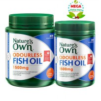Nature's Own Odourless Fish Oil 1500 mg 400 + 200 caps