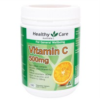 HEALTHY CARE VITAMIN C CHEWABLE - 500 TABLET