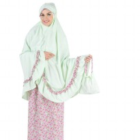 Mukena Fashion Syar'i Allura 047 Carmen Silicy / Green - Green