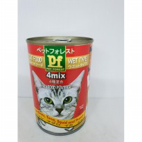 Cat food wet type Pet forest 4 mix PF 4mix sardines tuna squid prawn