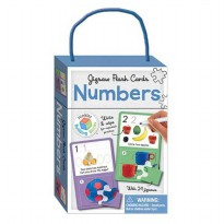 [HelloPandaBooks] Jigsaw Flash Cards NUMBERS (wipe clean cards with jigsaws)