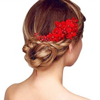 [macyskorea] Happy Hours - Handmade Bridal Hair Flower Side Comb Barrette Headpiece with T/14465280