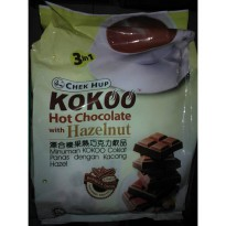 Chek Hup 3in1 Kokoo Hot Chocolate with Hazelnut Minuman Coklat 15pcs