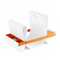BOON Diaper Caddy - Orange/White