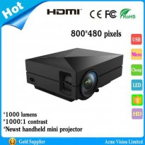 LODS Mini Projector GM60 1000 Lumens 800x480 3D