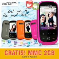 Alcatel One Touch Blaze Duo [Ski] OT-890D Dual GSM + Gratis MMC 2GB
