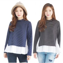 JO & NIC SET Calista Stripes LongSleeves Blouse - 2 warna