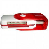 TC Card Reader 4 Slot Rotasi - Putih Merah