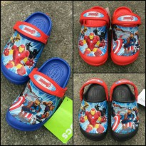 Sandal crocs anak lampu / sendal anak / crocs anak Iron Men led