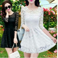 Dress CHRISYA Brukat Full Furing