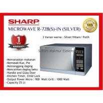 Microwave Sharp R-728(W)-IN - Putih Grill 100 Watt 25 Liter