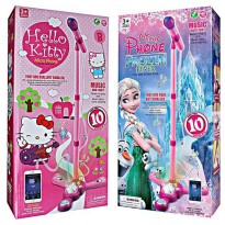 Hello Kitty/ Frozen Fever Adjustable MP3 Karaoke Microphone with Stand - Mainan Anak