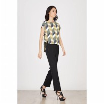 Dorin Cut Out Top In Green