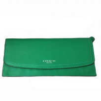 Authentic Coach Leather Soft Wallet - GREEN