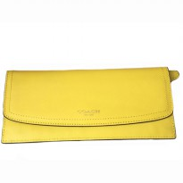 Authentic Coach Leather Soft Wallet - YELLOW