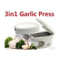 3 in 1 Garlic Press As Seen On TV Alat Penghalus Cacah Bawang Putih