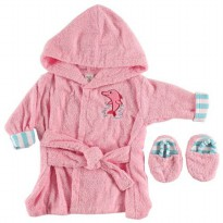 Luvable Friends Sea Character Woven Terry Baby Bath Robe with Slippers Ada 2 Warna