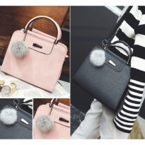 Tas Import Wanita Formal Semi Casual Trendy Pink Pom Cnk Vincci Wakai