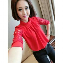 Blouse Neirin Brukat Red