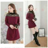Niraku Maroon Mini Dress
