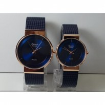 Jam Tangan Couple Alexandre Christie 8523MHLH Blue Rose Original