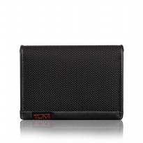 TUMI 0119256D Gusseted Card Case With ID Black