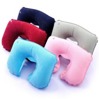 bantal leher angin travel nap pillow travel flocking inflatable hpi002