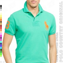 POLO COUNTRY Original C2-32 Polo Shirt Pria Cotton Lycra Tosca