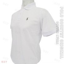 POLO COUNTRY Original C5-14 Polo Shirt Cowo Cotton Lycra Putih