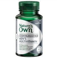 Natures Own Men's Multivitamin Mega Potency 60 Tbl Stamina Daya Tahan