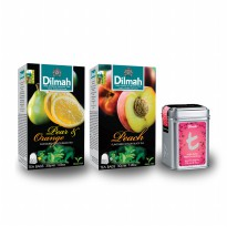 Dilmah T Mini Caddy Rose With French Vanilla