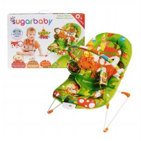 Sugar Baby Deluxe Musical Vibration Sugar Fox Baby Bouncher - Hijau