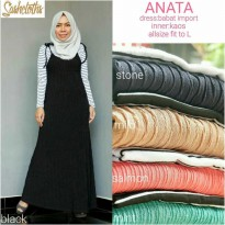 jumpsuit Long Dress maxmara Wanita Muslim anata inner kaos fit L