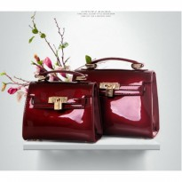 Tas Sandang Merah Dark Wine Red Like Michael Kors Chanel Fendi Coach