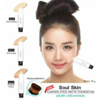 SOUL SKIN CUSHION STICK MATTE FOUNDATION BEDAK MAKE UP MAKEUP WAJAH BEST SELLER