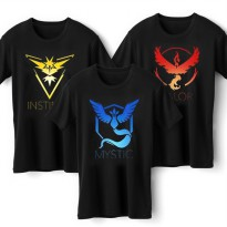 Pokemon Go (Valor, Mystic, Instinct) Printed T-Shirt / kaos